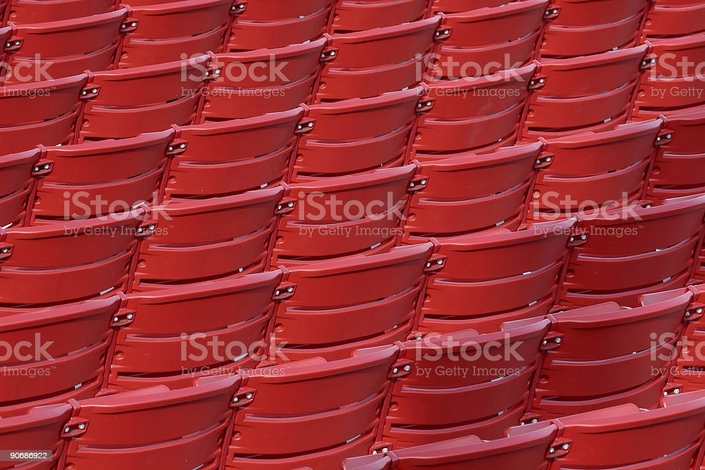Red Chair Backs royalty-free stock photo
