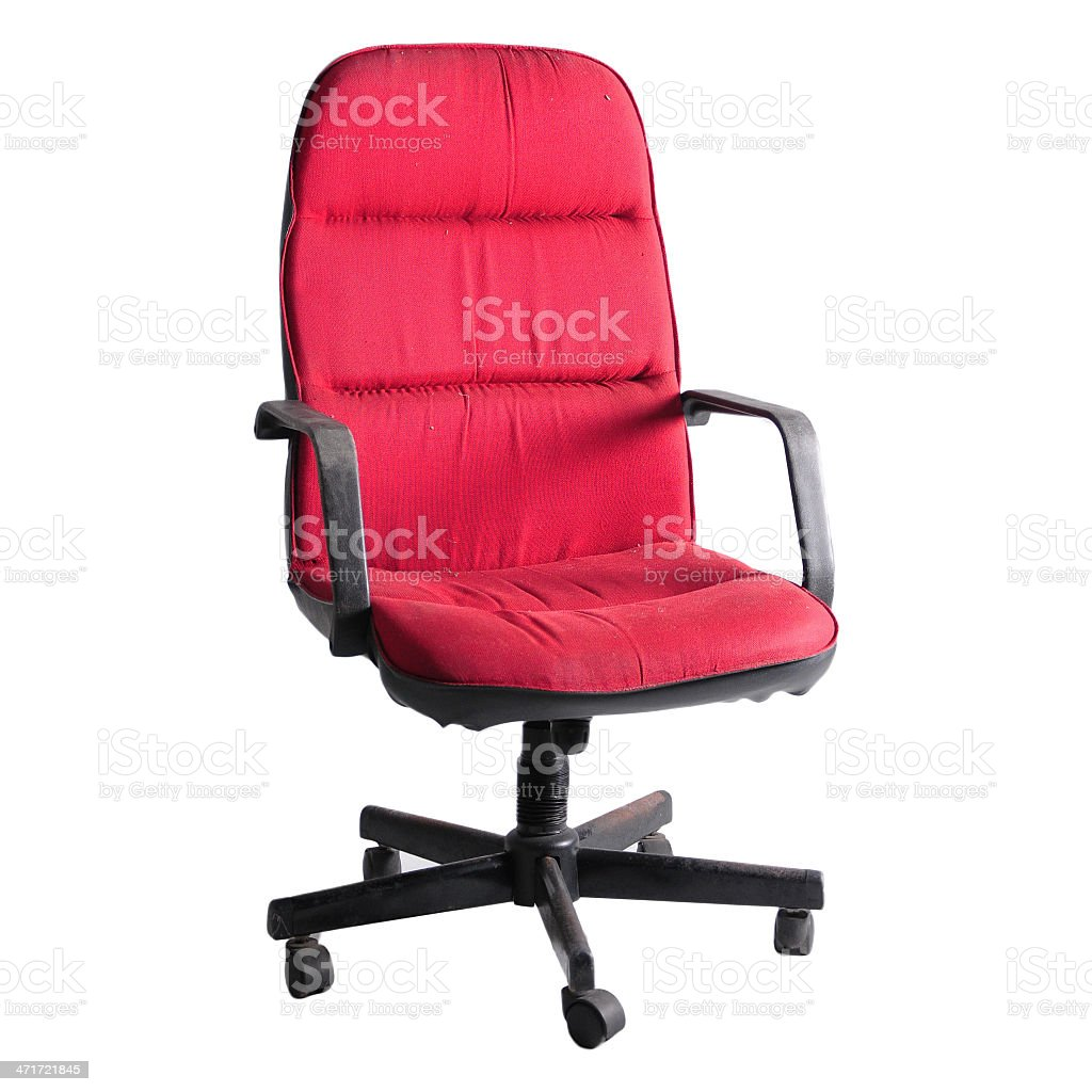 Red chair on white background royalty-free stock photo