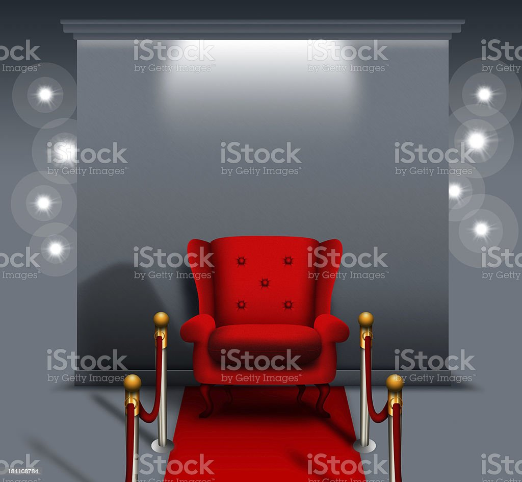 Red chair royalty-free stock photo
