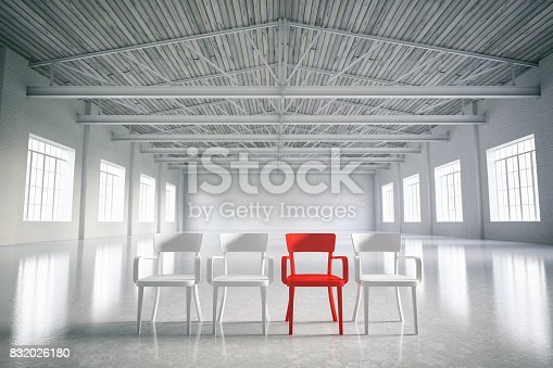 istock Red Chair 832026180