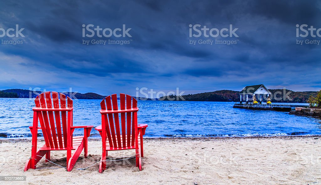 Red Chairs stock photo