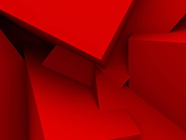 Rote Würfel Wand Hintergrund chaotischen – Foto