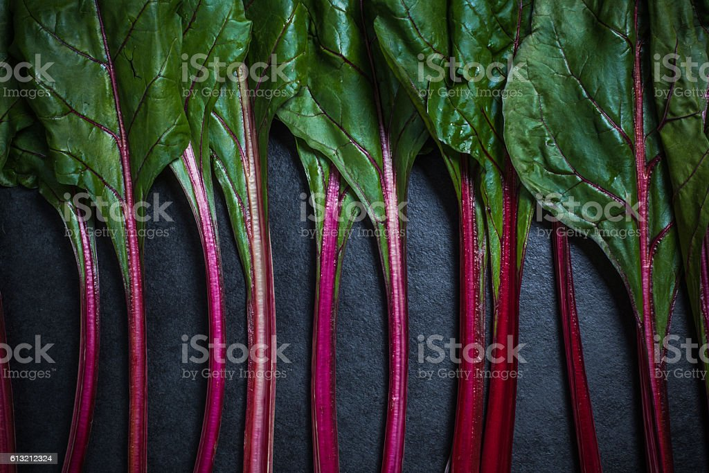 Red chard , vibrant vegetable stock photo