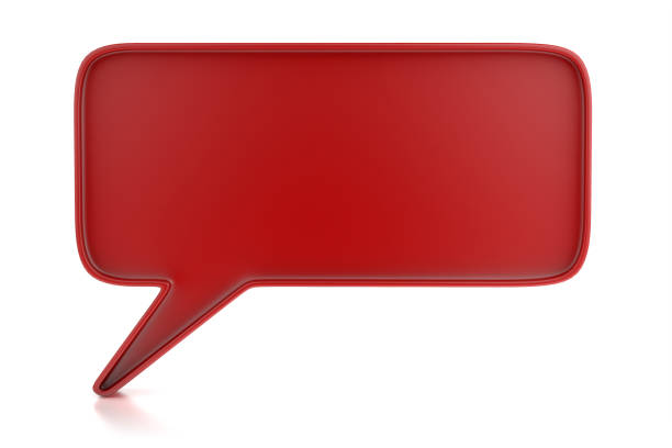 Red Chat Bubble stock photo
