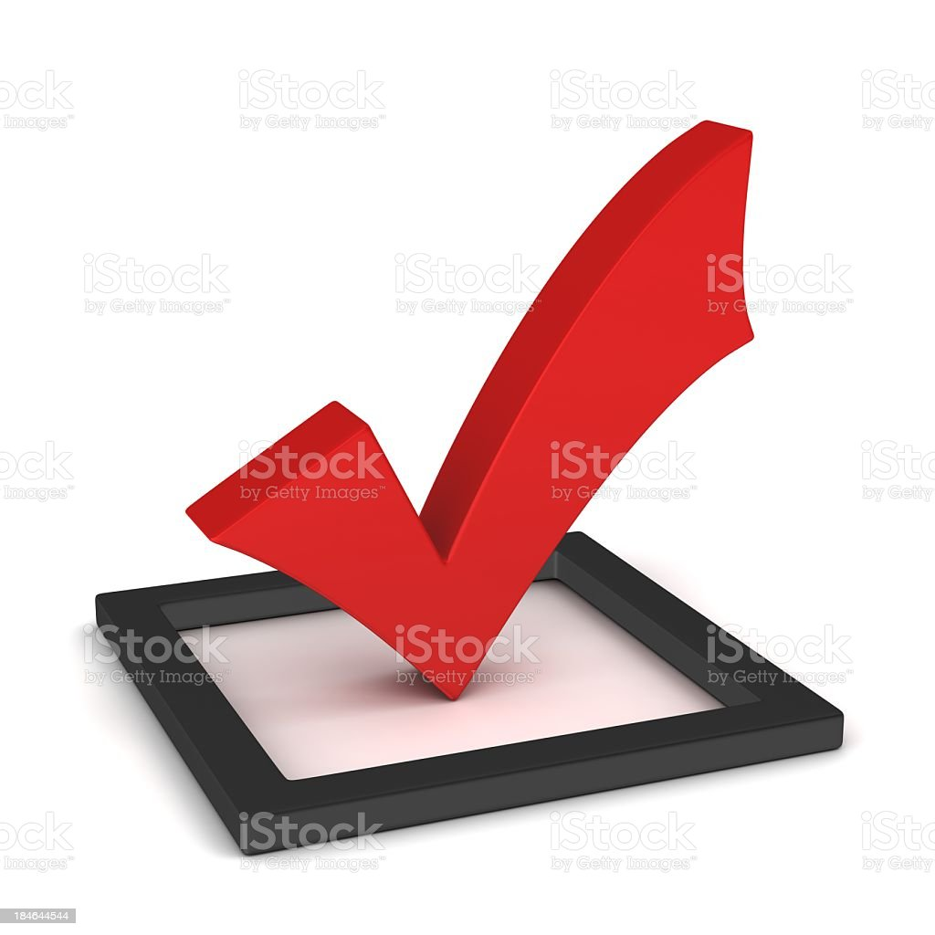 red check mark on the checkbox royalty-free stock photo