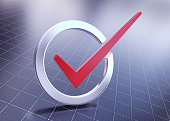 istock Red check mark 1296699157