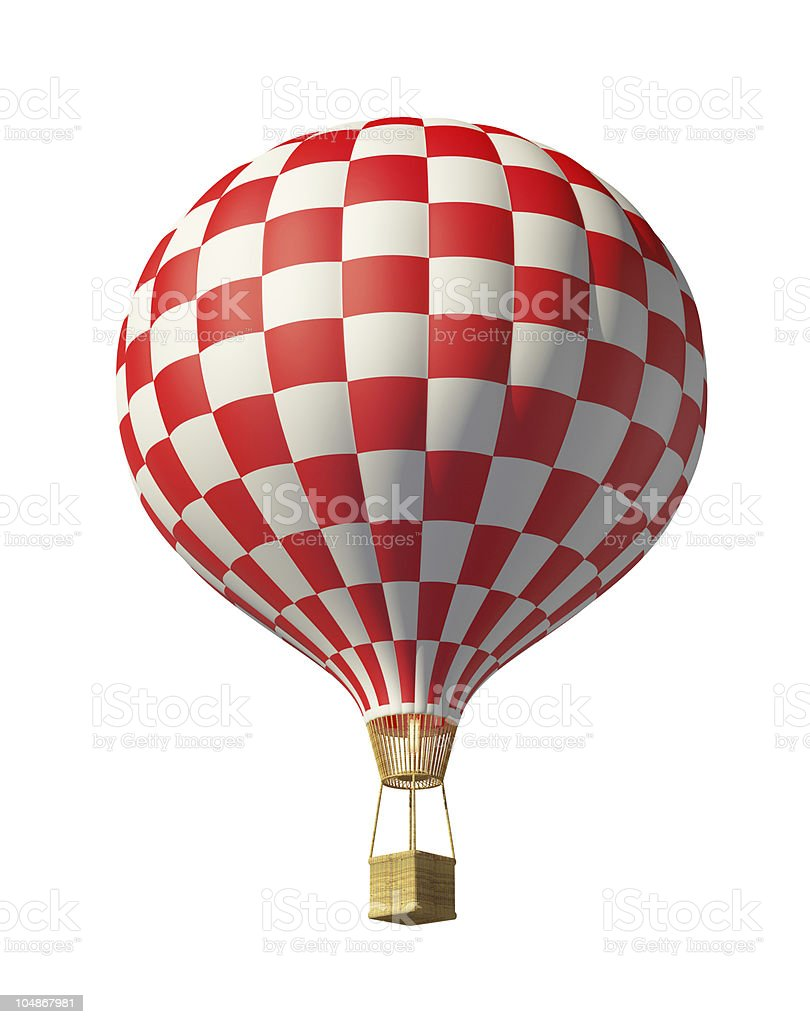 Rot karierte hot air balloon – Foto