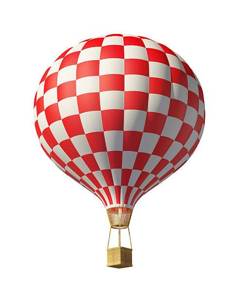 Rot karierte hot air balloon – Foto
