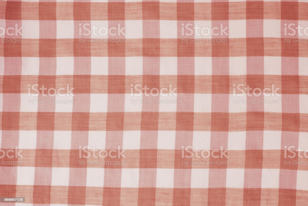 Red Checkered Tablecloth Background Royalty Free Stock Photo