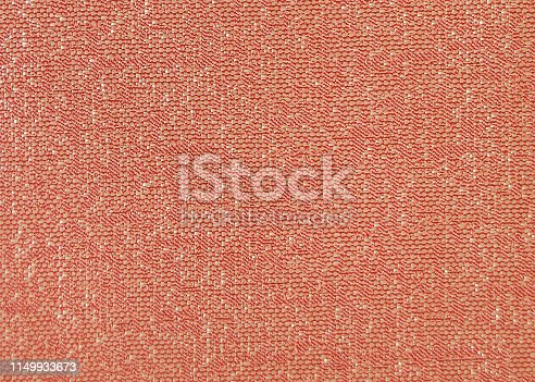 Close up shot of colored sofa fabric texture