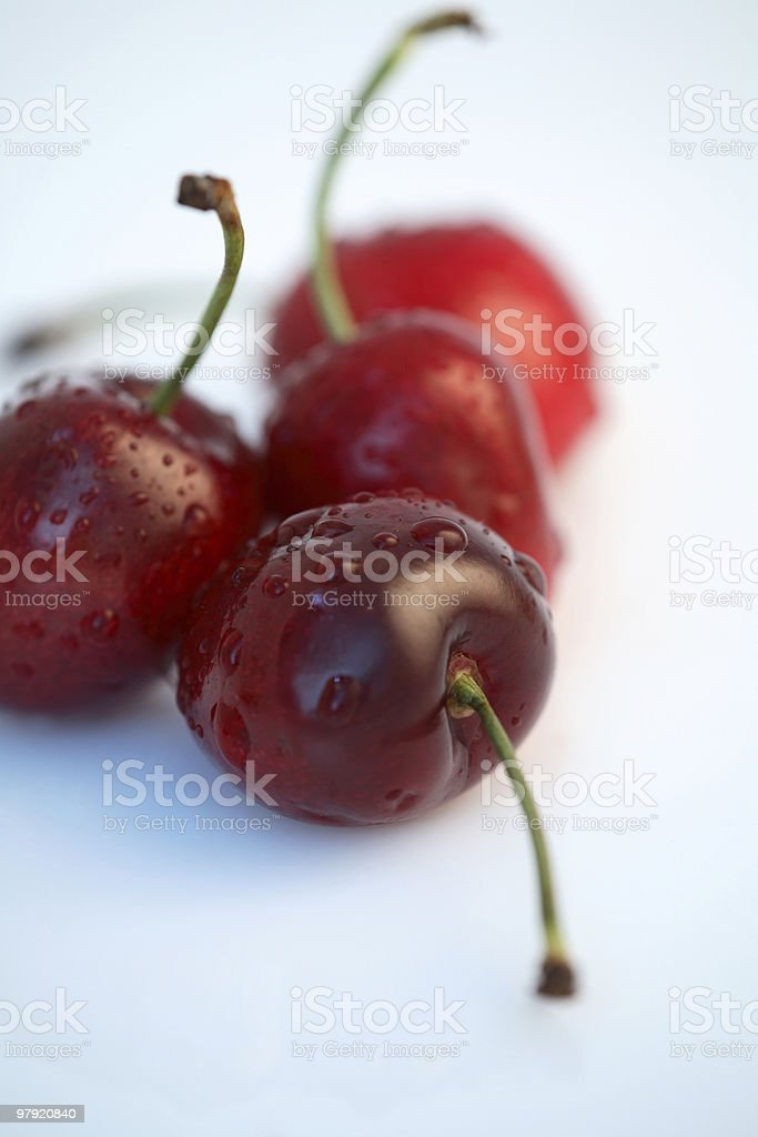 Red cherries. royalty-free stock photo