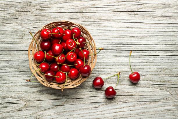 紅櫻桃果 - 車厘子 個照片及圖片檔