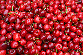 red fresh cherry background