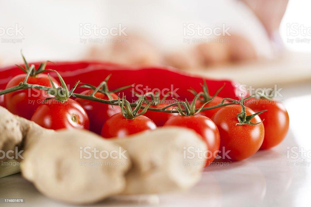 Red Cherry tomato royalty-free stock photo