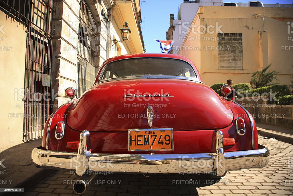 Red Chevrolet royalty-free stock photo