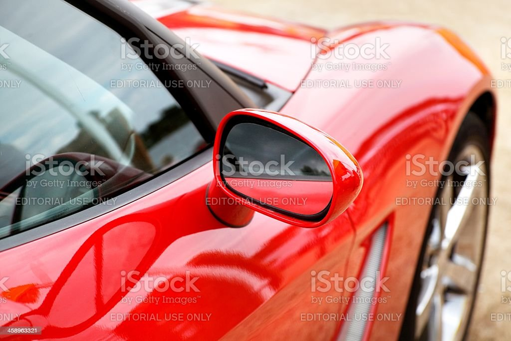 Red Chevy Corvette stock photo