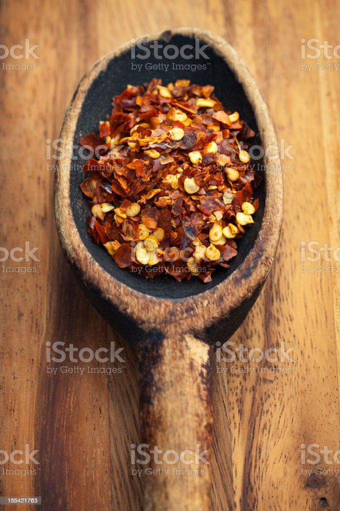 Red Chili Flakes stock photo