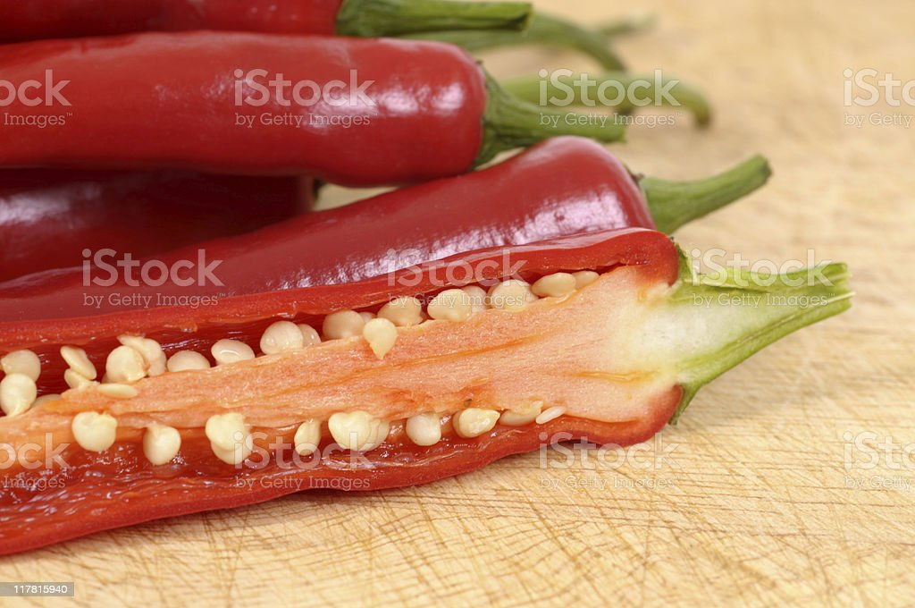 Red chili peppers (XL) royalty-free stock photo