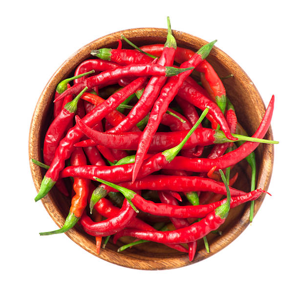 red chili peppers - rode chilipeper stockfoto's en -beelden