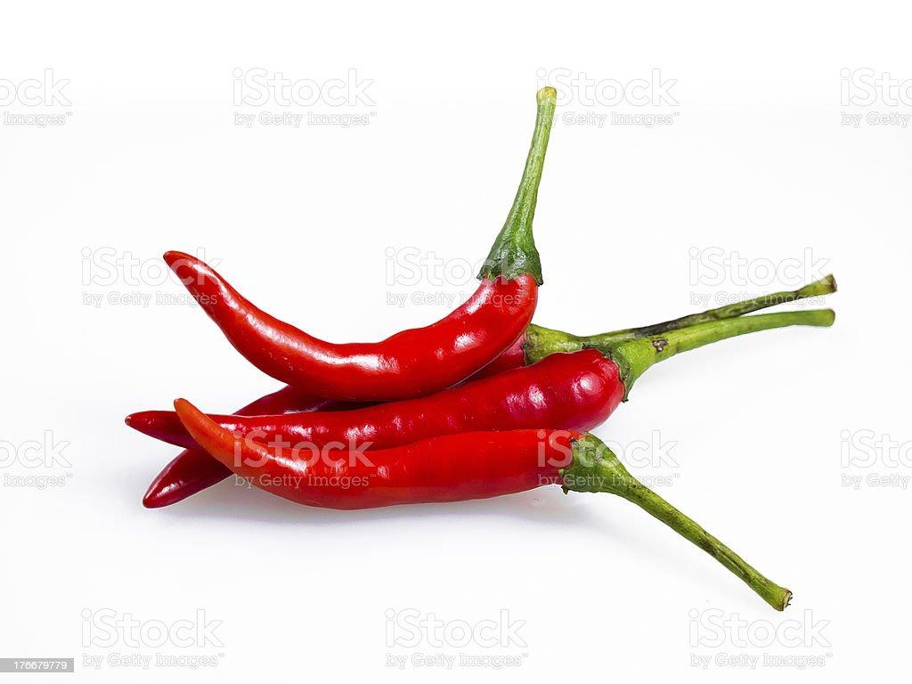 Rojo Chili peppers foto de stock libre de derechos