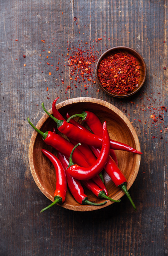 Red Chili Peppers Stock Photo - Download Image Now
