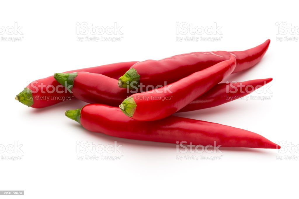 Red chilli pepper isolated on a white background. royalty-free stock photo