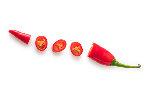Red chilli pepper isolated.