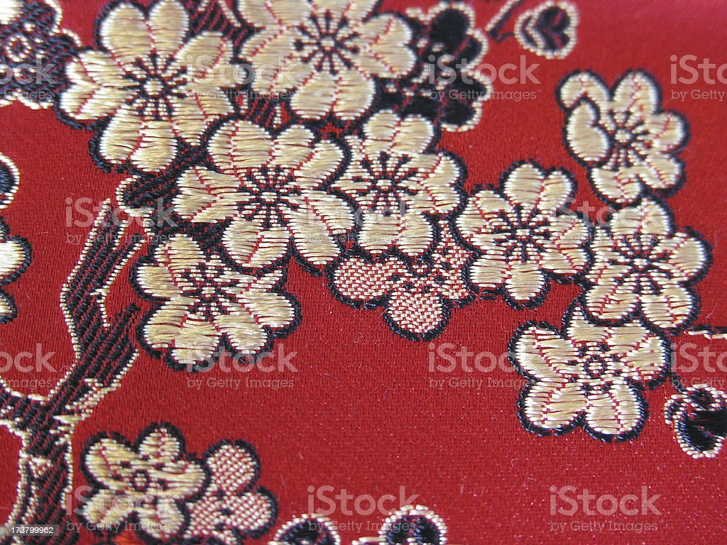 Red Chinese Slk Brocade royalty-free stock photo