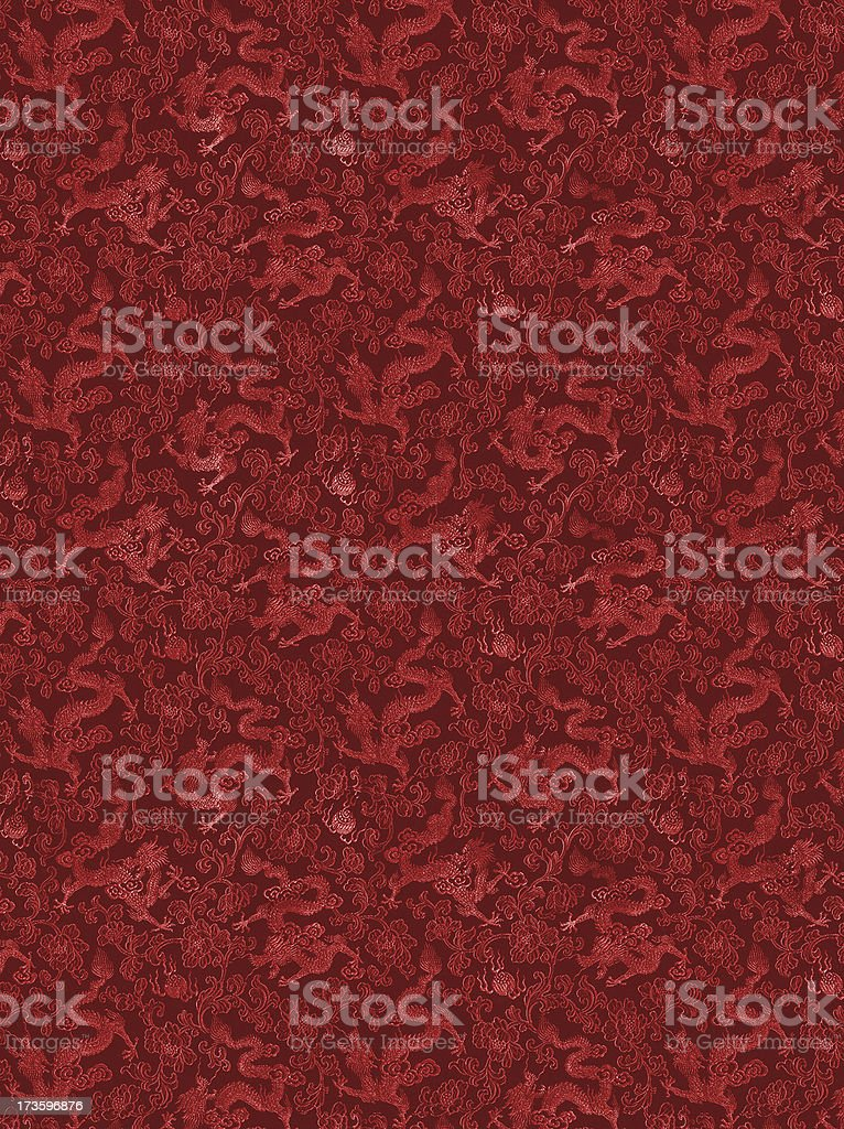 Red Chinese Textile stock photo