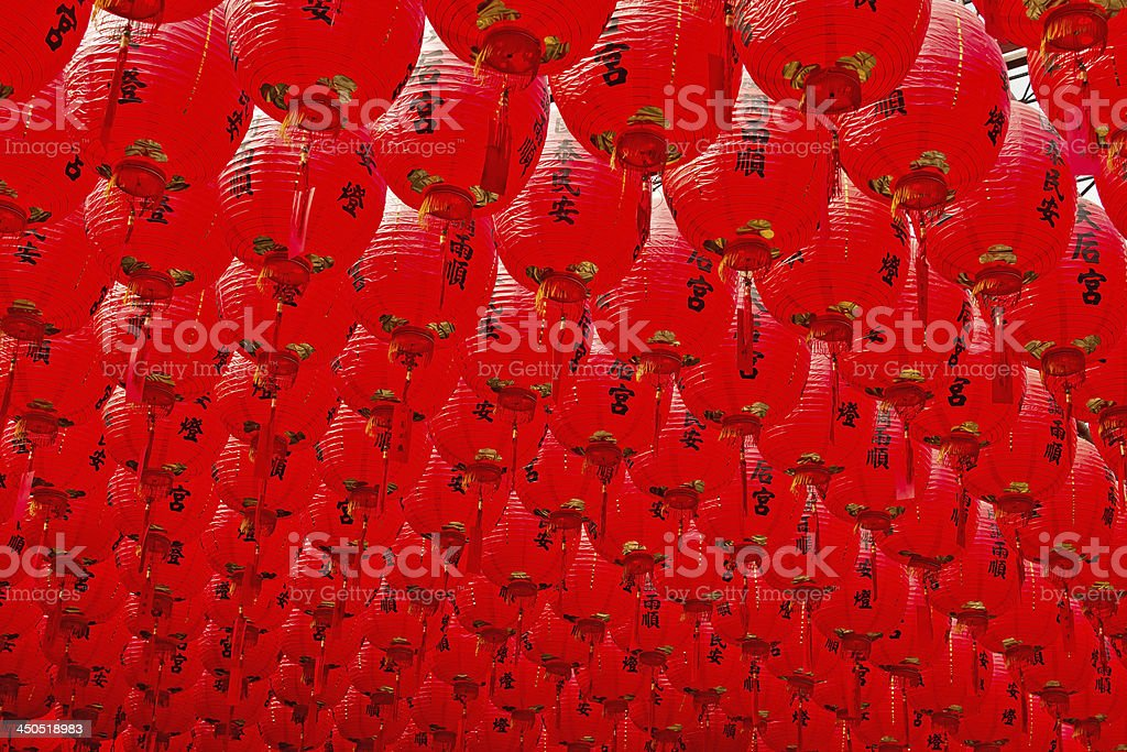 Red Chinese traditional lantern royalty-free stock photo