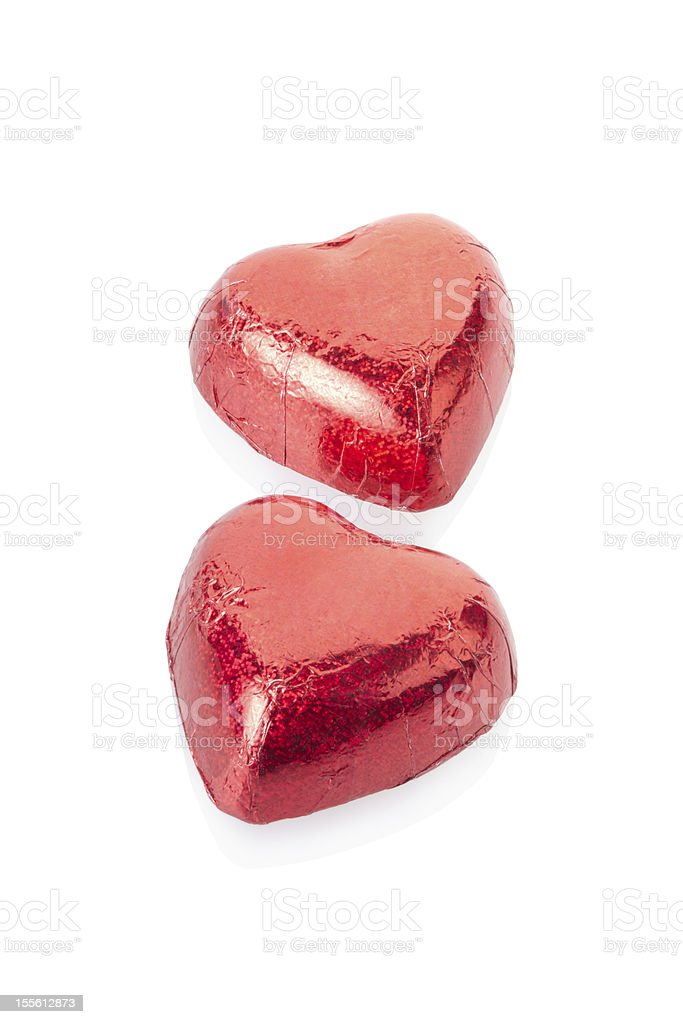 Red chocolate hearts royalty-free stock photo