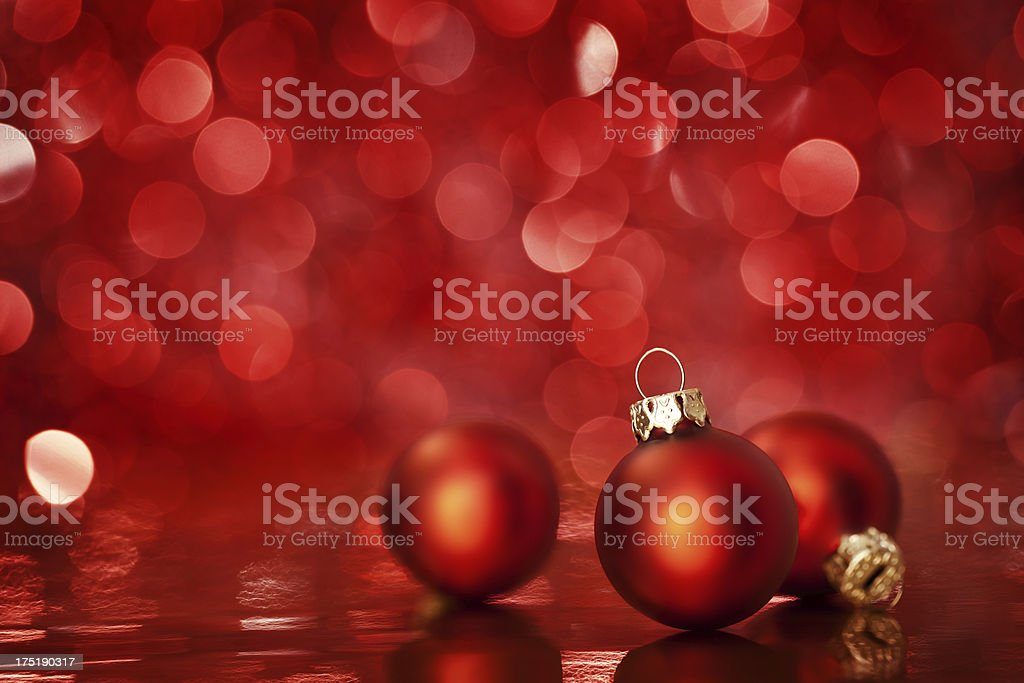 Red Christmas background with copy space royalty-free stock photo