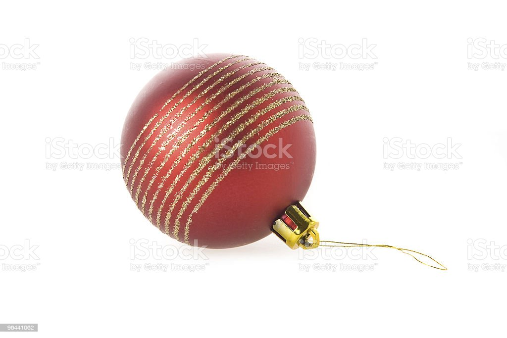 Bola vermelha de Natal isolado sobre o branco - Foto de stock de Bola de Árvore de Natal royalty-free