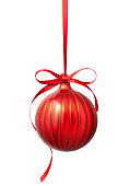 istock Red Christmas ball 1185185899