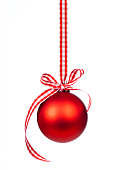 istock Red Christmas ball 1287034939