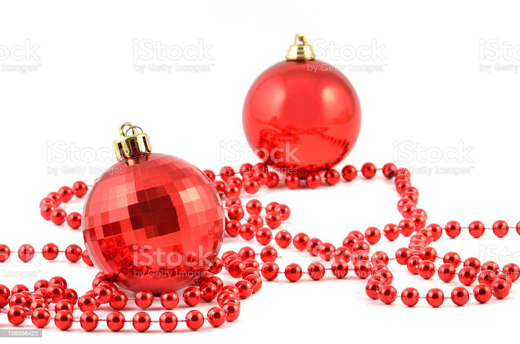 Red Christmas ball royalty-free stock photo