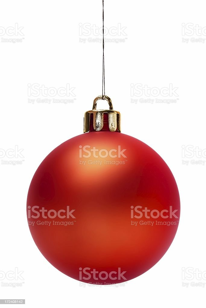 Red Christmas Ball (Isolated) royalty-free stock photo