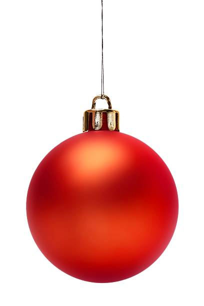 Red Christmas Ball (Isolated) stock photo
