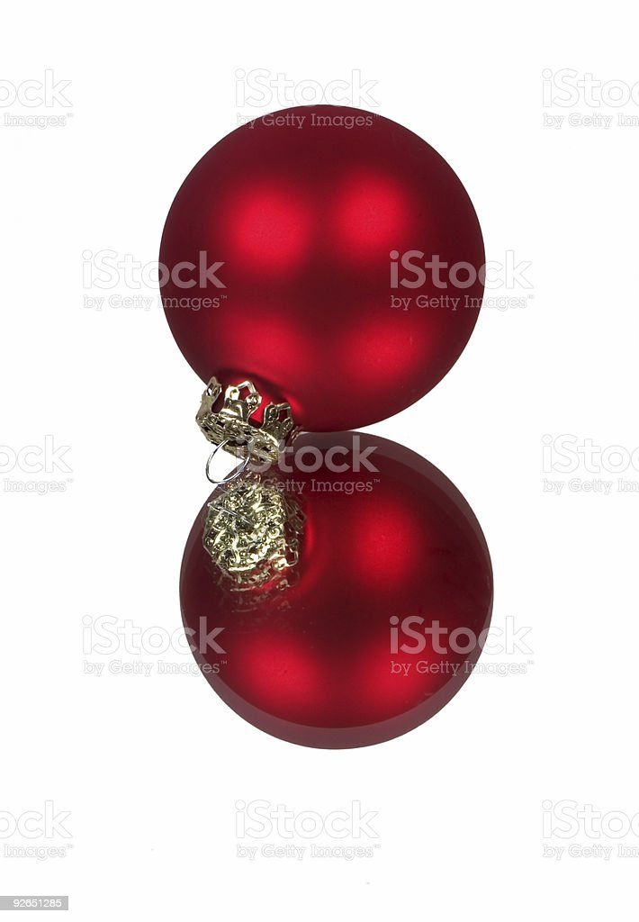 Red christmas ball royalty-free stock photo