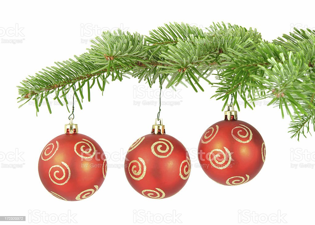 Red Christmas Balls royalty-free stock photo