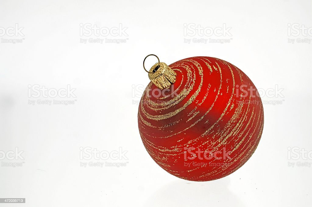 red Christmas bauble Cut stock photo