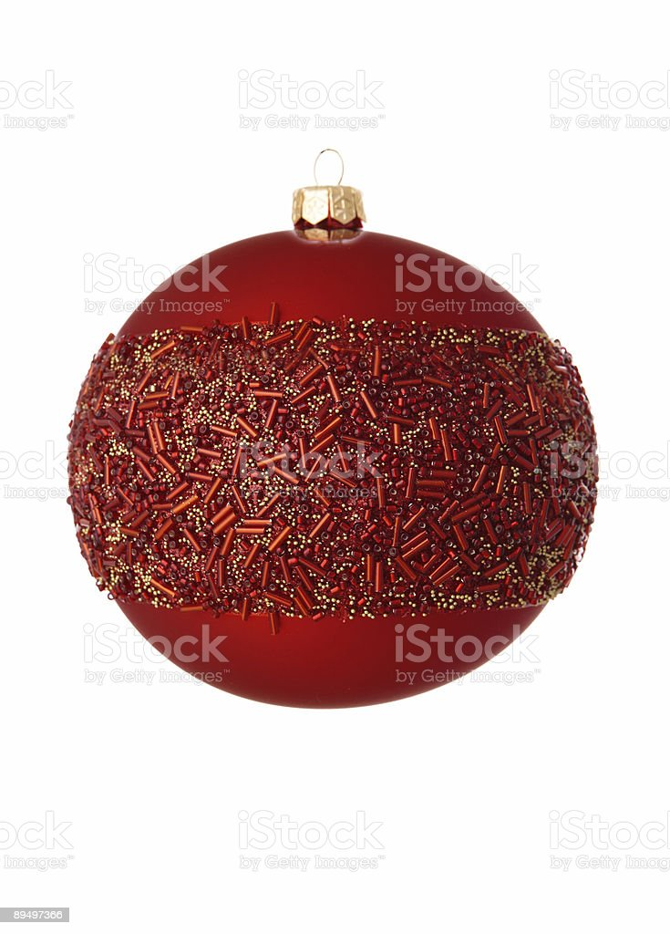 red christmas bauble on white royalty free stockfoto