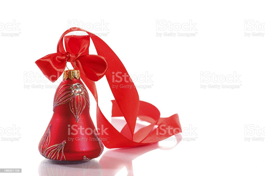 Red Christmas bell royalty-free stock photo