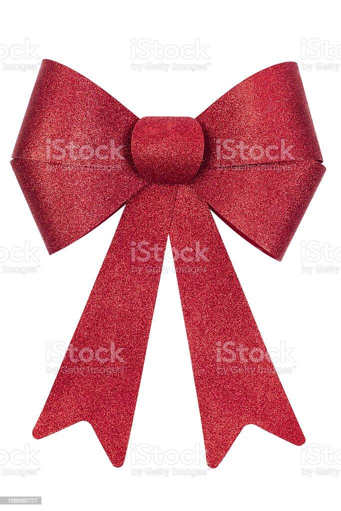 레드 크리스마스 나비매듭 흰색 바탕에 그림자와 royalty-free 스톡 사진