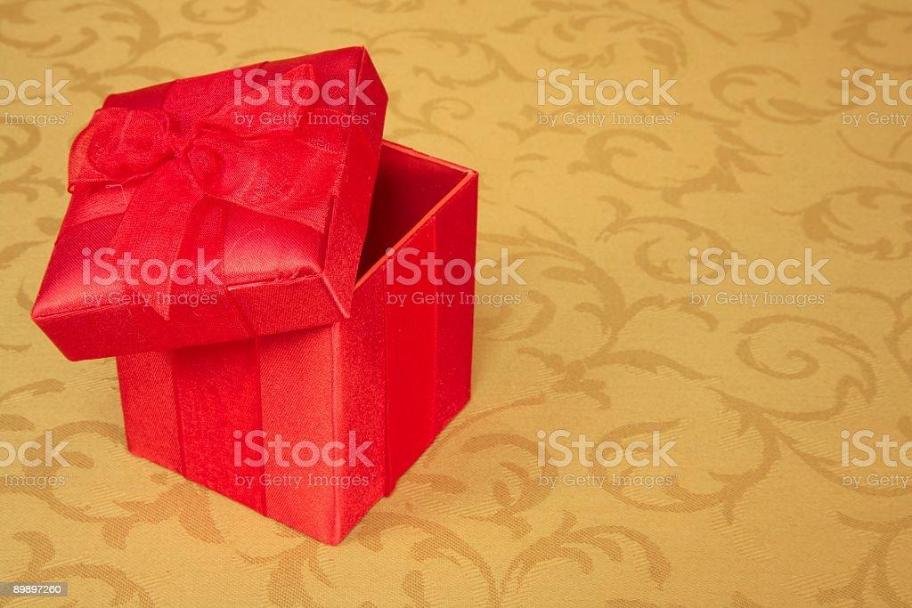 Red Christmas Box royalty-free stock photo