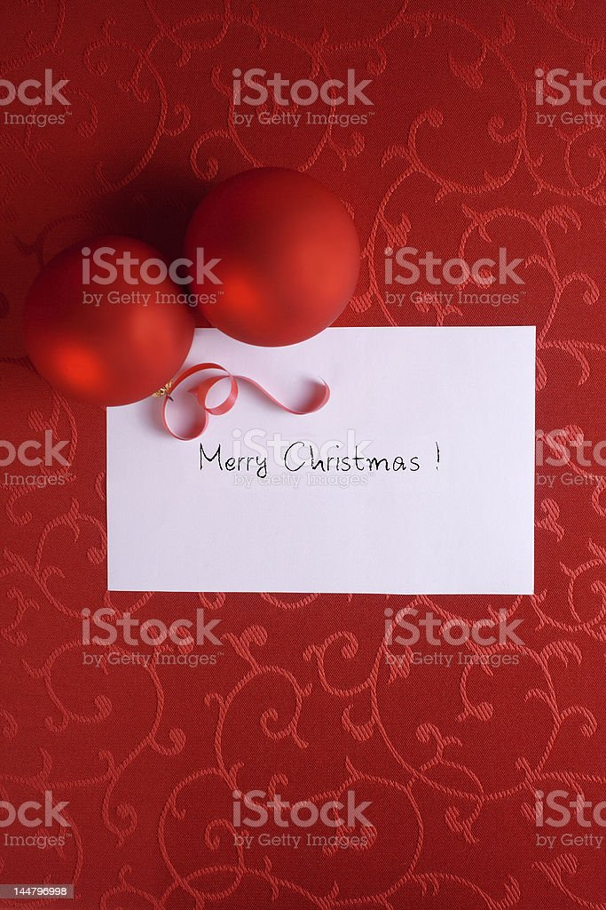 Red Christmas card royalty-free stock photo