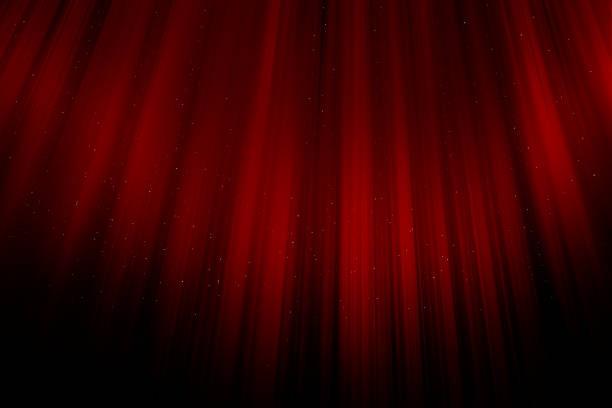 スパーク リング赤のクリスマス カーテン - glitter curtain ストックフォトと画像