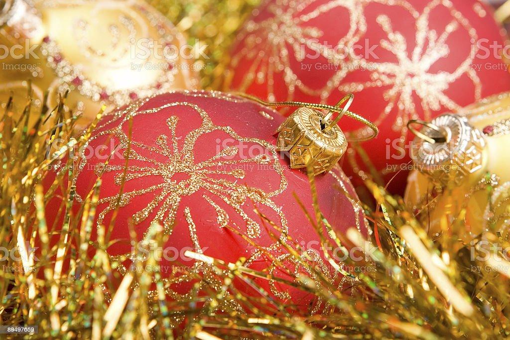 Czerwony Dekoracja świąteczna zbiór zdjęć royalty-free
