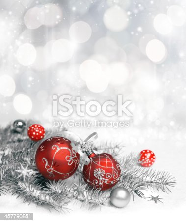 istock Red Christmas decorations 457790651