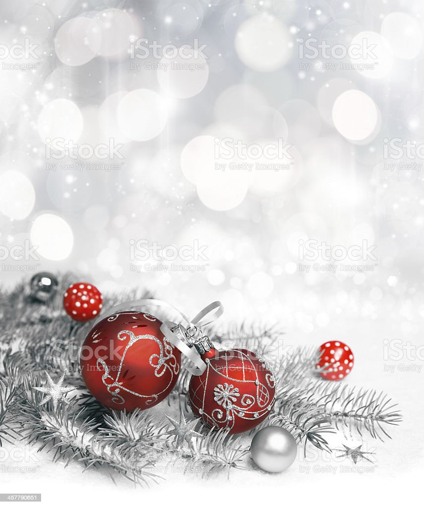 Red Christmas decorations stock photo